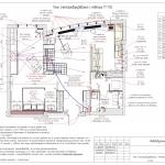 План электрооборудования с мебелью
